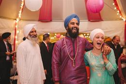 Outdoor Indian Canadian Sikh Wedding by Gurusurya Photography