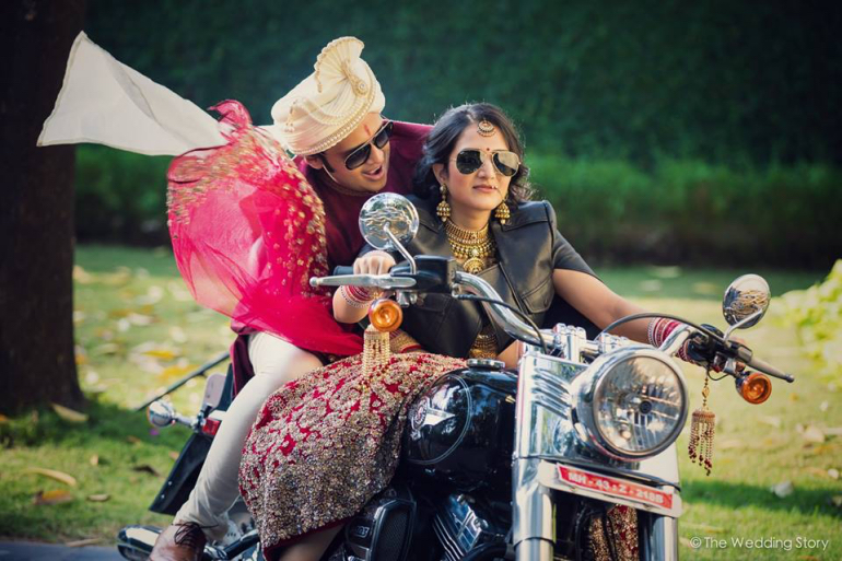 bride on bike - the wedding story
