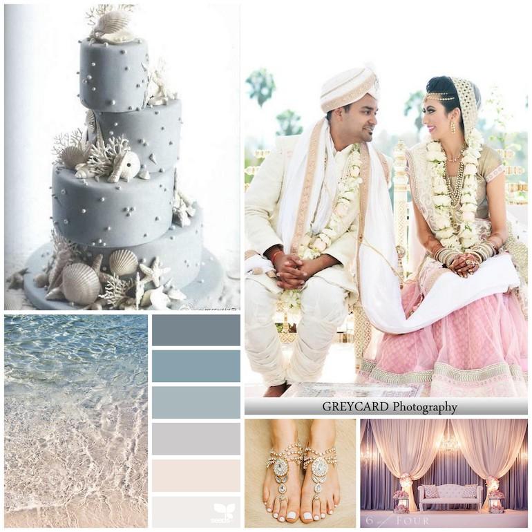 Beach Theme Wedding Photo Albums : Beach themed indian wedding color inspiration board