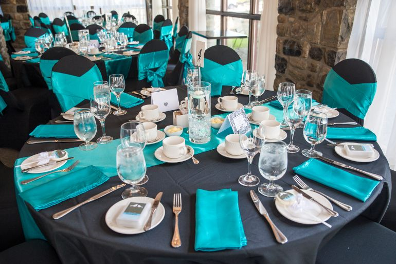 Teal and grey - RSVP events
