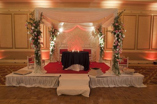 Ballroom Indian Wedding Reception in VA