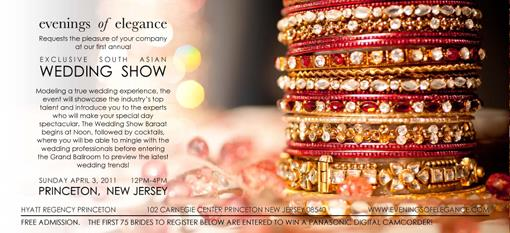 Exclusive South Asian Wedding Show - April 3 - New Jersey