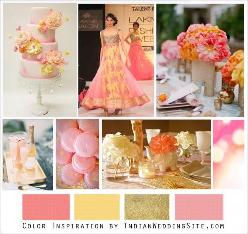 Awesome pink and yellow wedding colors ideas styles for Pink and yellow wedding theme ideas