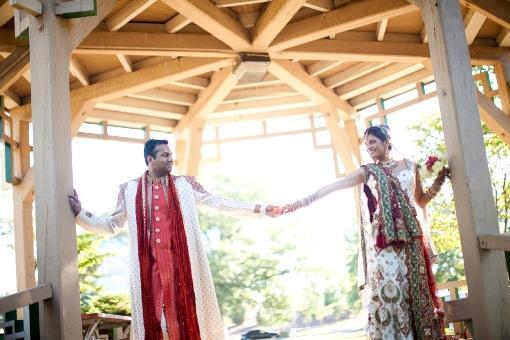 Green and Orange Bridesmaids Saris (2)