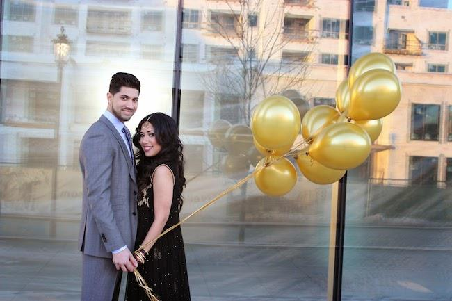 7a indian engagement session balloons