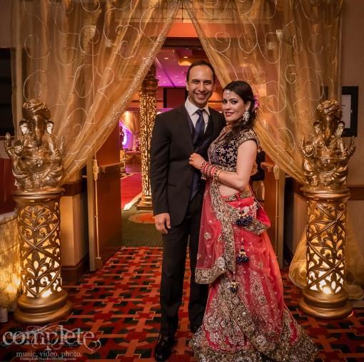 Nashville Tennessee Gold Indian Wedding Reception