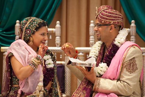 Purple Hindu Wedding Ceremony by Ajooba Events