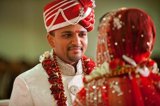 Red and Cream Indian Wedding by Crimson Blu Photography - 2