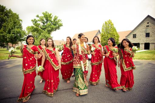 Red and White Outdoor Lexington Hindu Wedding - 2