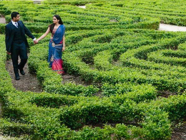 4indian-outdoor-maze-engagement-session