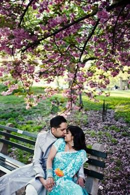 NYC Themed Indian Engagement Session by Nadia D. Photography