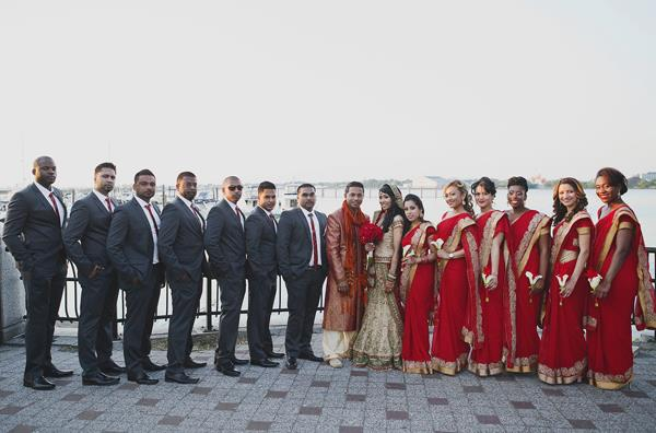 28a indian wedding bridal party