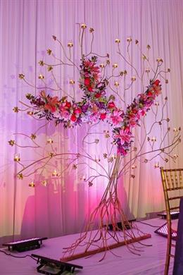 Blue and Purple Orchid Themed Indian Reception