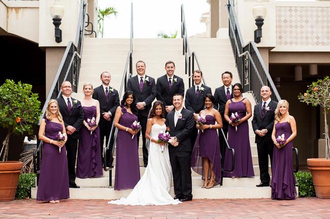 17a indian wedding bridal party portraits