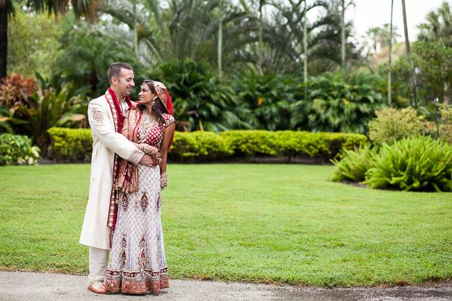 42a indian wedding outdoor wedding portrait