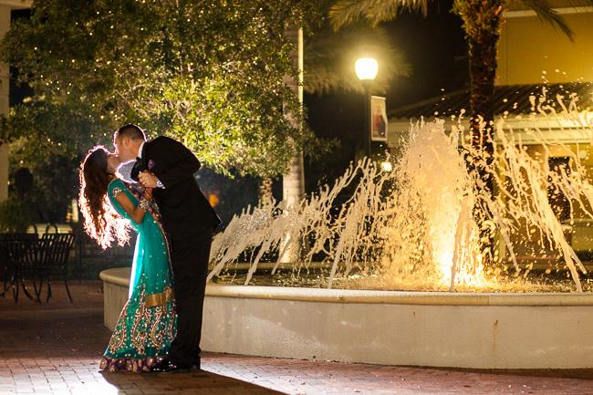 56a indian wedding outdoor reception portrait