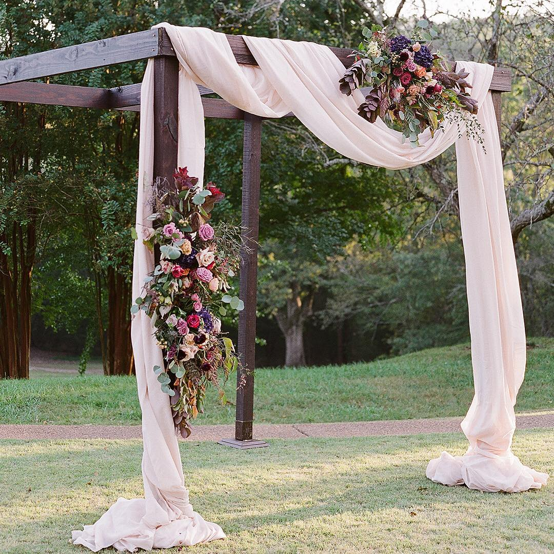 asymmetrical chuppah - sageninesevents