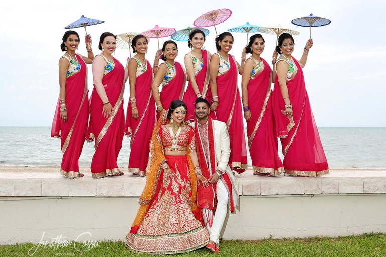 Bridemaids Indian Destination Wedding