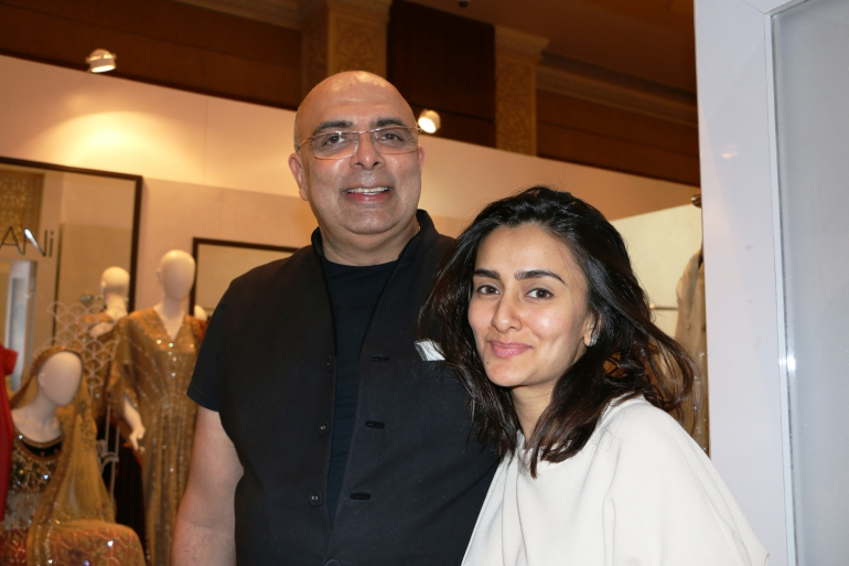 Designer Tarun Tahiliani with Designer Misha Lakhani at Day 3 of Vogue Wedding Show 2016 at Taj Palace, New Delhi