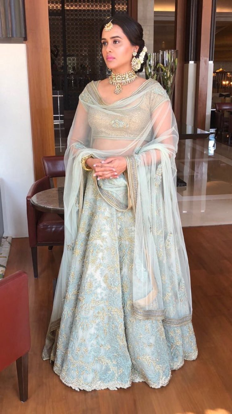 pastel and gold lehenga
