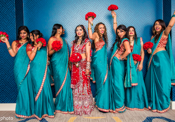 teal indian wedding
