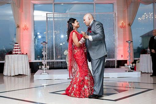 Damask and Red Indian Wedding Reception