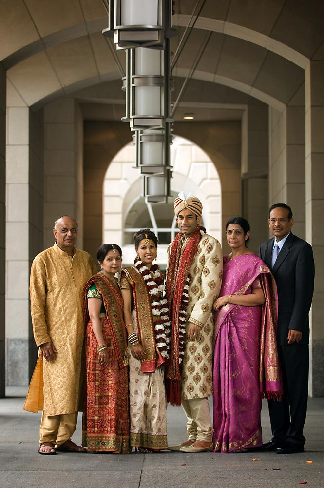 indian-bride-and-groom-with-parents