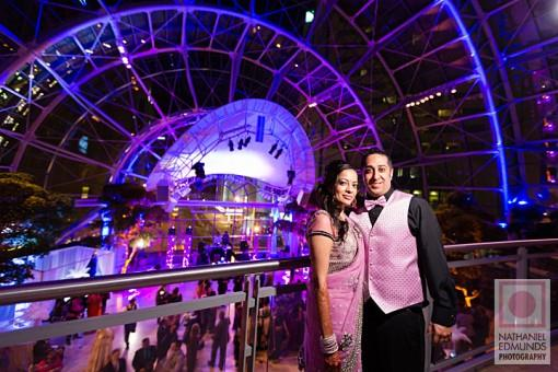 Elegant Indian Reception with Surprise Club Transformation - 3