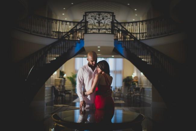 8 indian staircase engagement shoot