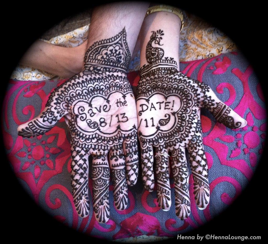 Gorgeous Henna Save the Date by Henna Lounge