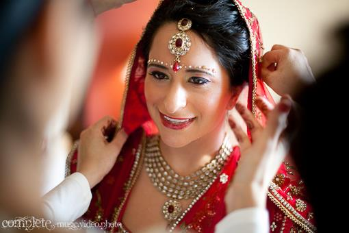 Indian Nashville Bride with Kundan Jewelry and Red Lips - 1