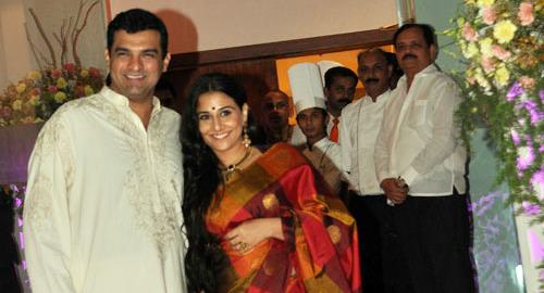 Celebrity Indian Wedding - Vidya Balan and Siddharth Roy Kapur