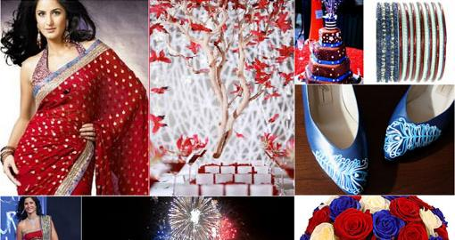 4th of July Indian Wedding Inspiration Board