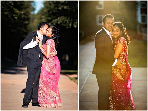 Maryland Indian Engagement Portraits by Photographick Studios