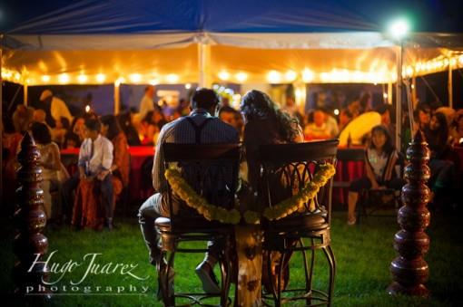 Outdoor Indian Engagement Party and Portraits