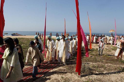 Outdoor Sikh Wedding on Goa Beach