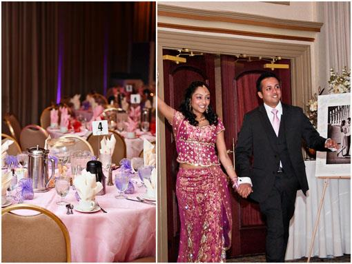 Pink and White South Asian Engagement Party in Maryland