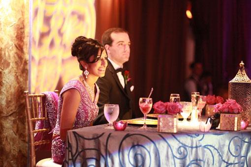 Purple Indian Wedding Reception