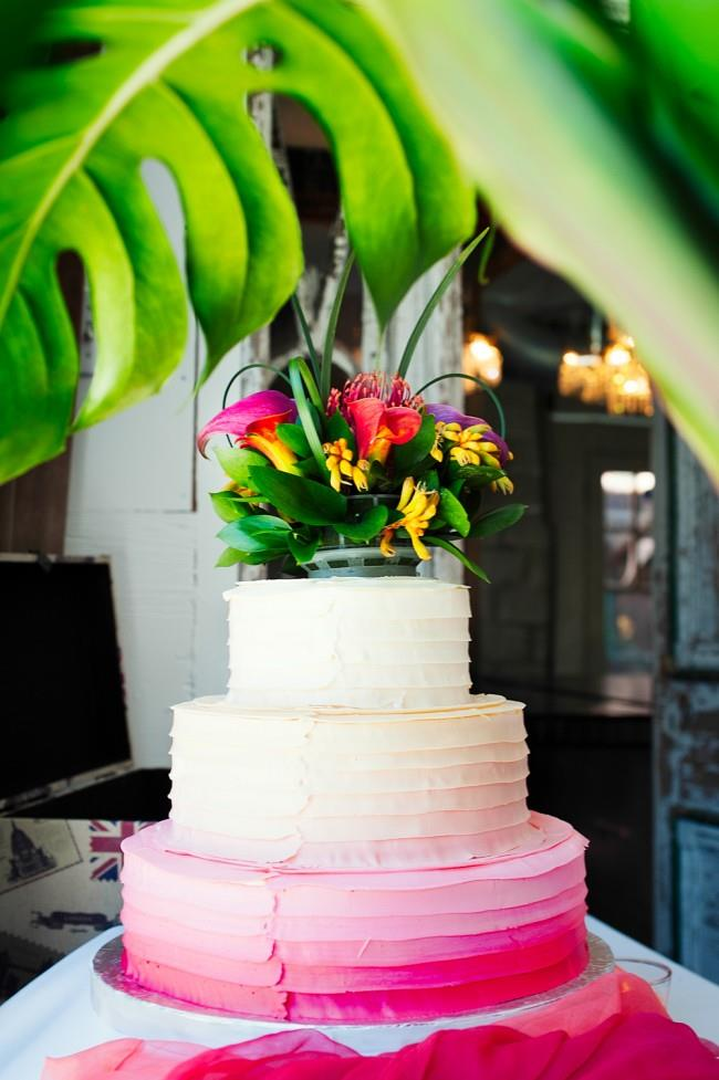 19a indian wedding ombre cake