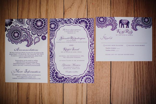 1a Indian wedding invitations