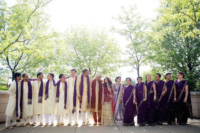 37a indian wedding bridal party