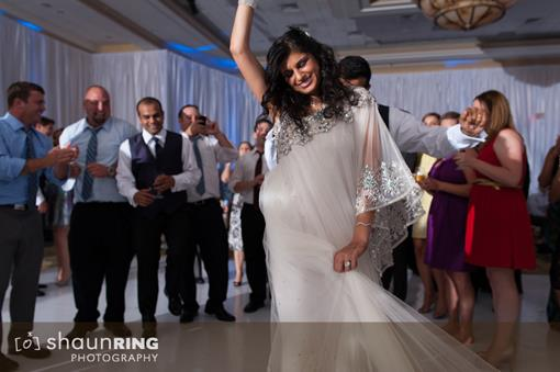 Upscale All-White Lounge Indian Wedding Reception Surprise - 5