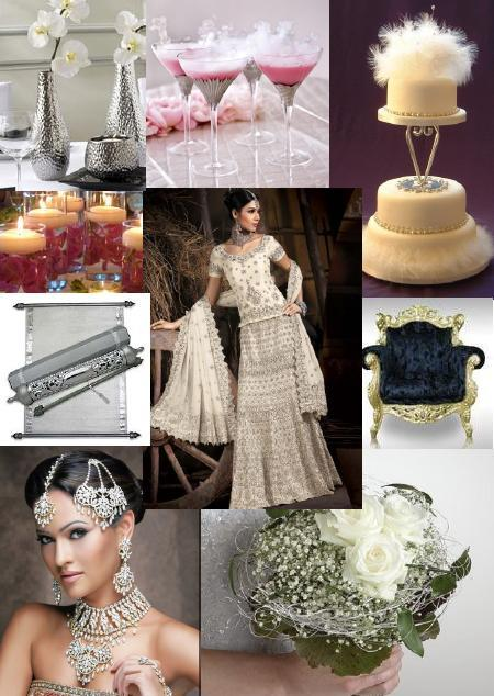 White Indian Inspiration Board by Shaadiesque