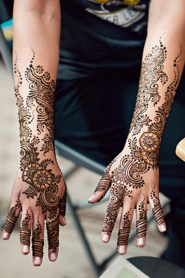 1a Intricate Indian bridal mehndi design on hands