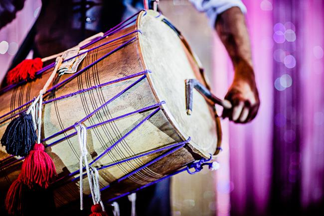 Live dhol performance show at Indian wedding reception